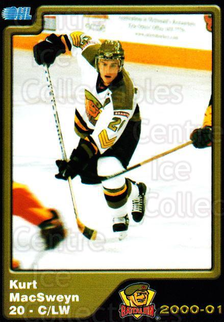 2000-01 Brampton Battalion #17 Kurt MacSweyn<br/>4 In Stock - $3.00 each - <a href=https://centericecollectibles.foxycart.com/cart?name=2000-01%20Brampton%20Battalion%20%2317%20Kurt%20MacSweyn...&price=$3.00&code=539127 class=foxycart> Buy it now! </a>