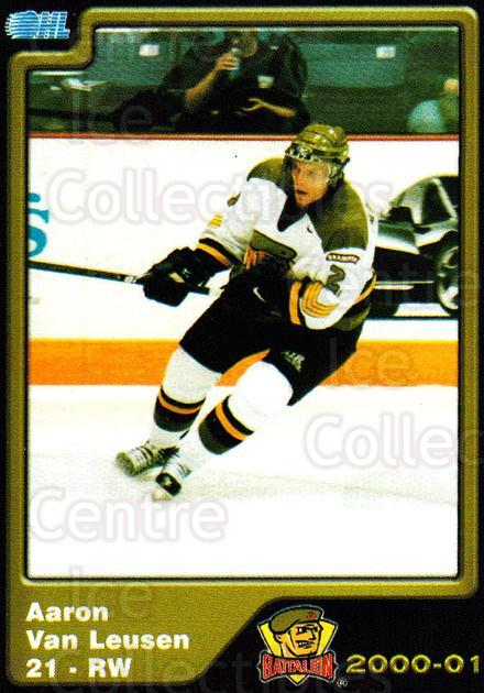 2000-01 Brampton Battalion #18 Aaron Van Leusen<br/>2 In Stock - $3.00 each - <a href=https://centericecollectibles.foxycart.com/cart?name=2000-01%20Brampton%20Battalion%20%2318%20Aaron%20Van%20Leuse...&price=$3.00&code=539128 class=foxycart> Buy it now! </a>