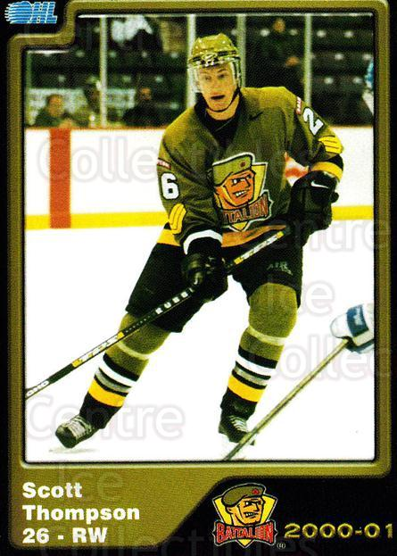 2000-01 Brampton Battalion #22 Scott Thompson<br/>4 In Stock - $3.00 each - <a href=https://centericecollectibles.foxycart.com/cart?name=2000-01%20Brampton%20Battalion%20%2322%20Scott%20Thompson...&price=$3.00&code=539132 class=foxycart> Buy it now! </a>
