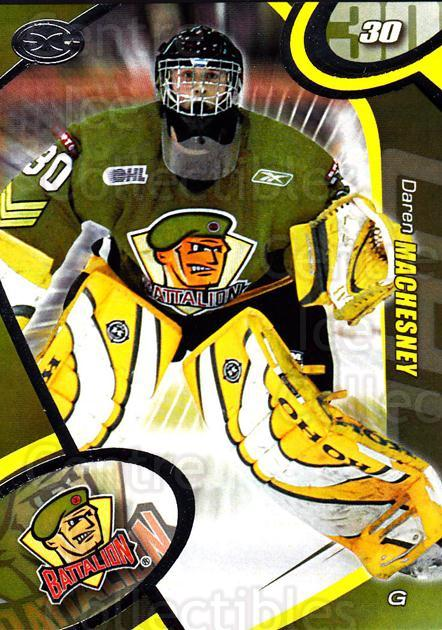 2004-05 Brampton Battalion #2 Daren Machesney<br/>1 In Stock - $3.00 each - <a href=https://centericecollectibles.foxycart.com/cart?name=2004-05%20Brampton%20Battalion%20%232%20Daren%20Machesney...&price=$3.00&code=539144 class=foxycart> Buy it now! </a>
