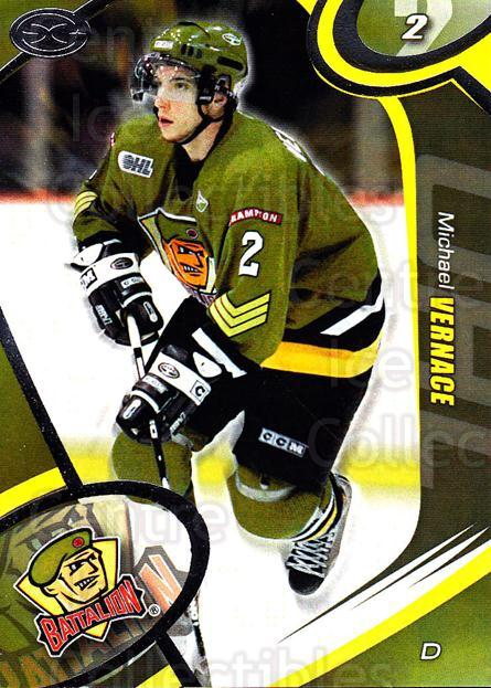 2004-05 Brampton Battalion #4 Mike Vernace<br/>1 In Stock - $3.00 each - <a href=https://centericecollectibles.foxycart.com/cart?name=2004-05%20Brampton%20Battalion%20%234%20Mike%20Vernace...&price=$3.00&code=539146 class=foxycart> Buy it now! </a>