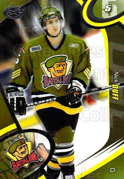 2004-05 Brampton Battalion #7 Nick Duff<br/>3 In Stock - $3.00 each - <a href=https://centericecollectibles.foxycart.com/cart?name=2004-05%20Brampton%20Battalion%20%237%20Nick%20Duff...&price=$3.00&code=539149 class=foxycart> Buy it now! </a>