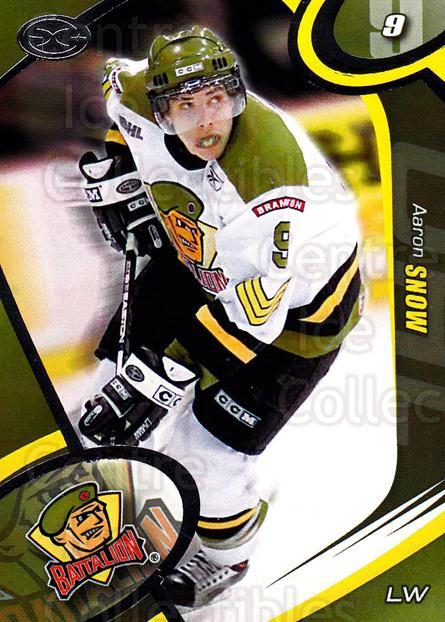 2004-05 Brampton Battalion #11 Aaron Snow<br/>3 In Stock - $3.00 each - <a href=https://centericecollectibles.foxycart.com/cart?name=2004-05%20Brampton%20Battalion%20%2311%20Aaron%20Snow...&price=$3.00&code=539153 class=foxycart> Buy it now! </a>