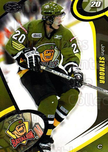 2004-05 Brampton Battalion #18 John Seymour<br/>7 In Stock - $3.00 each - <a href=https://centericecollectibles.foxycart.com/cart?name=2004-05%20Brampton%20Battalion%20%2318%20John%20Seymour...&price=$3.00&code=539160 class=foxycart> Buy it now! </a>