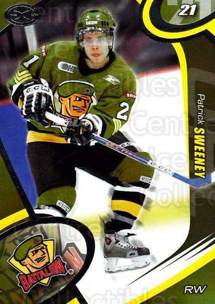 2004-05 Brampton Battalion #19 Patrick Sweeney<br/>3 In Stock - $3.00 each - <a href=https://centericecollectibles.foxycart.com/cart?name=2004-05%20Brampton%20Battalion%20%2319%20Patrick%20Sweeney...&price=$3.00&code=539161 class=foxycart> Buy it now! </a>