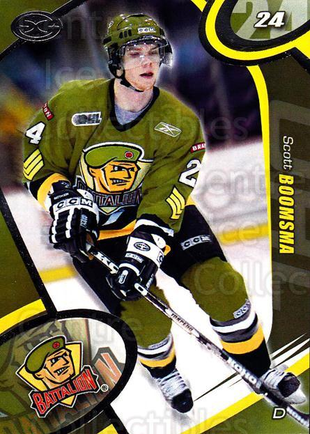 2004-05 Brampton Battalion #22 Scott Boomsma<br/>2 In Stock - $3.00 each - <a href=https://centericecollectibles.foxycart.com/cart?name=2004-05%20Brampton%20Battalion%20%2322%20Scott%20Boomsma...&price=$3.00&code=539164 class=foxycart> Buy it now! </a>