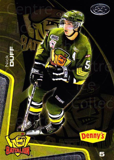 2005-06 Brampton Battalion #3 Nick Duff<br/>3 In Stock - $3.00 each - <a href=https://centericecollectibles.foxycart.com/cart?name=2005-06%20Brampton%20Battalion%20%233%20Nick%20Duff...&price=$3.00&code=539170 class=foxycart> Buy it now! </a>
