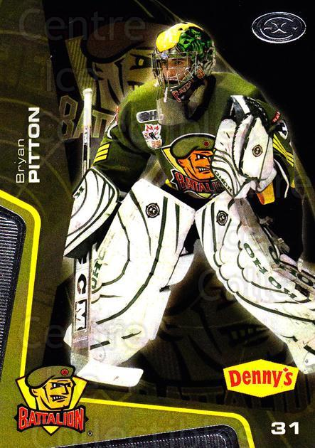 2005-06 Brampton Battalion #6 Bryan Pitton<br/>1 In Stock - $3.00 each - <a href=https://centericecollectibles.foxycart.com/cart?name=2005-06%20Brampton%20Battalion%20%236%20Bryan%20Pitton...&price=$3.00&code=539173 class=foxycart> Buy it now! </a>