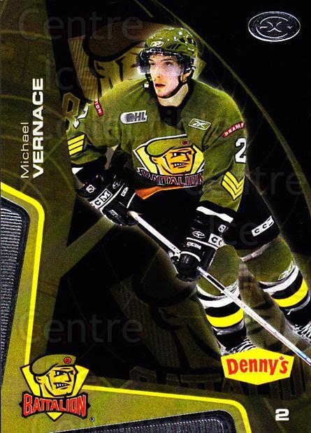 2005-06 Brampton Battalion #7 Mike Vernace<br/>1 In Stock - $3.00 each - <a href=https://centericecollectibles.foxycart.com/cart?name=2005-06%20Brampton%20Battalion%20%237%20Mike%20Vernace...&price=$3.00&code=539174 class=foxycart> Buy it now! </a>