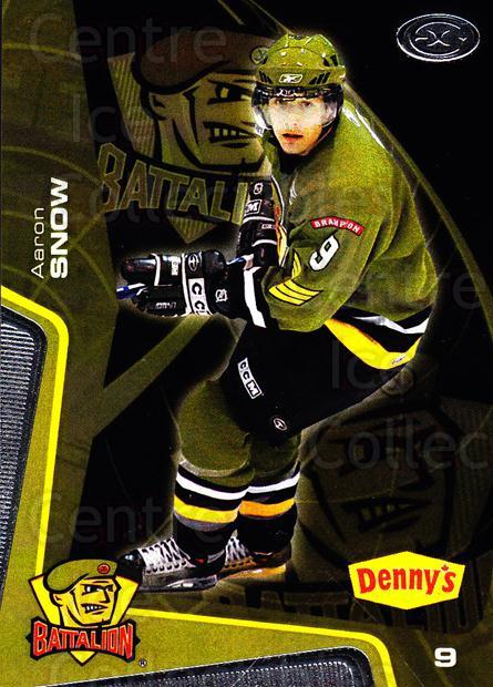 2005-06 Brampton Battalion #10 Aaron Snow<br/>1 In Stock - $3.00 each - <a href=https://centericecollectibles.foxycart.com/cart?name=2005-06%20Brampton%20Battalion%20%2310%20Aaron%20Snow...&price=$3.00&code=539177 class=foxycart> Buy it now! </a>