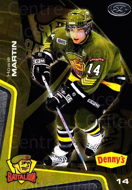 2005-06 Brampton Battalion #12 Howie Martin<br/>2 In Stock - $3.00 each - <a href=https://centericecollectibles.foxycart.com/cart?name=2005-06%20Brampton%20Battalion%20%2312%20Howie%20Martin...&price=$3.00&code=539179 class=foxycart> Buy it now! </a>