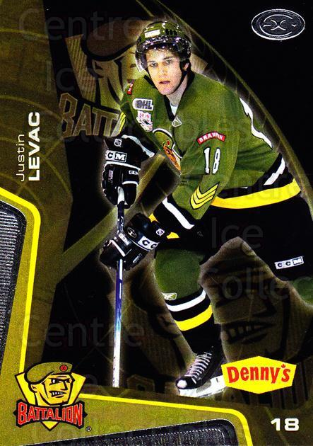 2005-06 Brampton Battalion #15 Justin Levac<br/>3 In Stock - $3.00 each - <a href=https://centericecollectibles.foxycart.com/cart?name=2005-06%20Brampton%20Battalion%20%2315%20Justin%20Levac...&price=$3.00&code=539182 class=foxycart> Buy it now! </a>