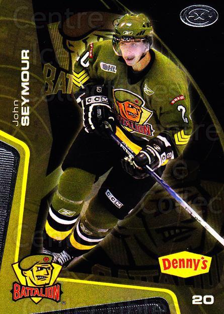 2005-06 Brampton Battalion #17 John Seymour<br/>1 In Stock - $3.00 each - <a href=https://centericecollectibles.foxycart.com/cart?name=2005-06%20Brampton%20Battalion%20%2317%20John%20Seymour...&price=$3.00&code=539184 class=foxycart> Buy it now! </a>