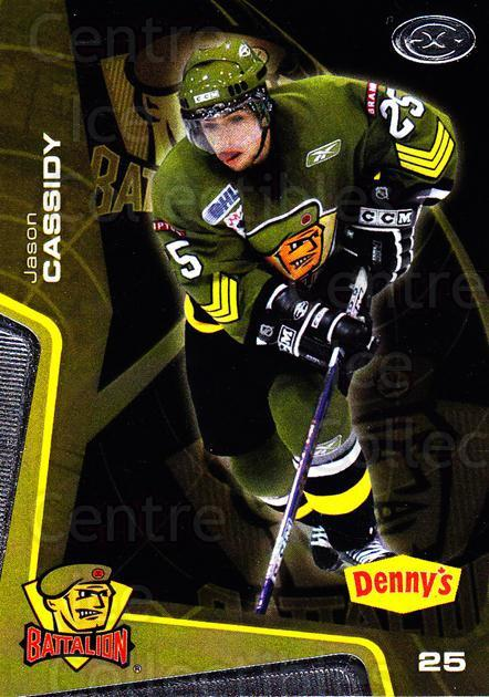 2005-06 Brampton Battalion #21 Jason Cassidy<br/>3 In Stock - $3.00 each - <a href=https://centericecollectibles.foxycart.com/cart?name=2005-06%20Brampton%20Battalion%20%2321%20Jason%20Cassidy...&price=$3.00&code=539188 class=foxycart> Buy it now! </a>