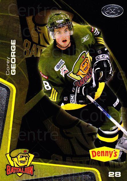 2005-06 Brampton Battalion #24 Corey George<br/>3 In Stock - $3.00 each - <a href=https://centericecollectibles.foxycart.com/cart?name=2005-06%20Brampton%20Battalion%20%2324%20Corey%20George...&price=$3.00&code=539191 class=foxycart> Buy it now! </a>