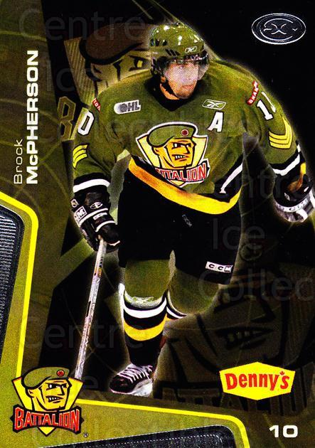 2005-06 Brampton Battalion #25 Brock McPherson<br/>3 In Stock - $3.00 each - <a href=https://centericecollectibles.foxycart.com/cart?name=2005-06%20Brampton%20Battalion%20%2325%20Brock%20McPherson...&price=$3.00&code=539192 class=foxycart> Buy it now! </a>