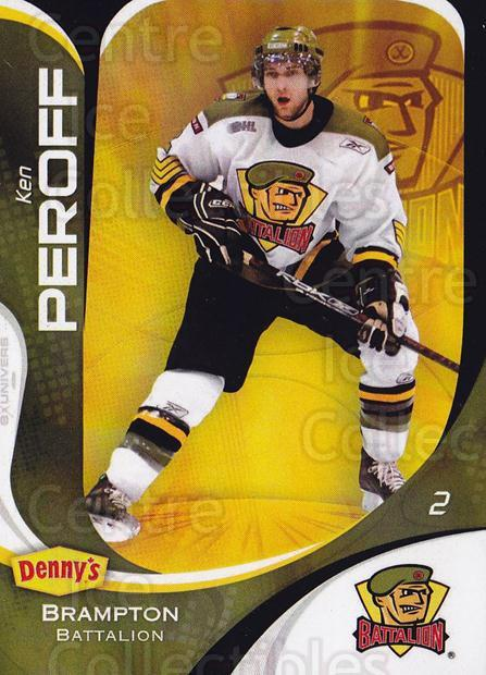 2007-08 Brampton Battalion #3 Ken Peroff<br/>5 In Stock - $3.00 each - <a href=https://centericecollectibles.foxycart.com/cart?name=2007-08%20Brampton%20Battalion%20%233%20Ken%20Peroff...&price=$3.00&code=539195 class=foxycart> Buy it now! </a>