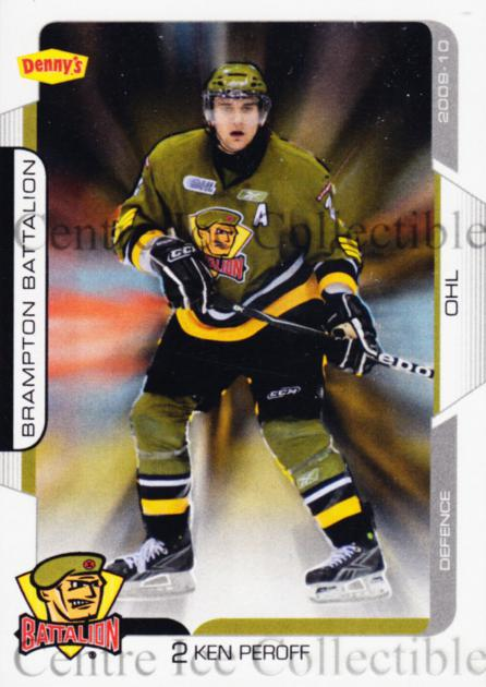 2009-10 Brampton Battalion #2 Ken Peroff<br/>1 In Stock - $3.00 each - <a href=https://centericecollectibles.foxycart.com/cart?name=2009-10%20Brampton%20Battalion%20%232%20Ken%20Peroff...&price=$3.00&code=539218 class=foxycart> Buy it now! </a>