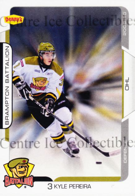 2009-10 Brampton Battalion #3 Kyle Pereira<br/>1 In Stock - $3.00 each - <a href=https://centericecollectibles.foxycart.com/cart?name=2009-10%20Brampton%20Battalion%20%233%20Kyle%20Pereira...&price=$3.00&code=539219 class=foxycart> Buy it now! </a>