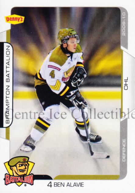 2009-10 Brampton Battalion #4 Ben Alavie<br/>1 In Stock - $3.00 each - <a href=https://centericecollectibles.foxycart.com/cart?name=2009-10%20Brampton%20Battalion%20%234%20Ben%20Alavie...&price=$3.00&code=539220 class=foxycart> Buy it now! </a>