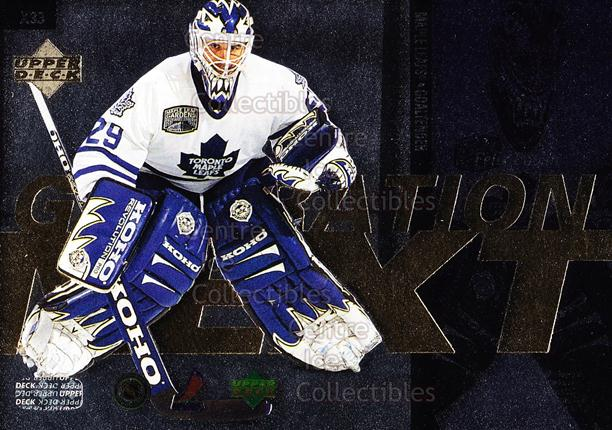 1996-97 Upper Deck Generation Next #33 Felix Potvin, Grant Fuhr<br/>5 In Stock - $2.00 each - <a href=https://centericecollectibles.foxycart.com/cart?name=1996-97%20Upper%20Deck%20Generation%20Next%20%2333%20Felix%20Potvin,%20G...&quantity_max=5&price=$2.00&code=53924 class=foxycart> Buy it now! </a>