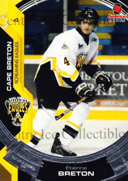 2006-07 Cape Breton Screaming Eagles #2 Etienne Breton<br/>4 In Stock - $3.00 each - <a href=https://centericecollectibles.foxycart.com/cart?name=2006-07%20Cape%20Breton%20Screaming%20Eagles%20%232%20Etienne%20Breton...&price=$3.00&code=539267 class=foxycart> Buy it now! </a>
