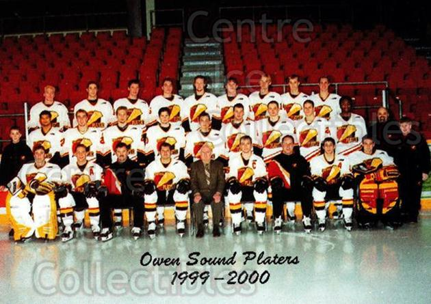 1999-00 Owen Sound Platers #31 Team Photo, Owen Sound Platers<br/>1 In Stock - $2.00 each - <a href=https://centericecollectibles.foxycart.com/cart?name=1999-00%20Owen%20Sound%20Platers%20%2331%20Team%20Photo,%20Owe...&price=$2.00&code=539328 class=foxycart> Buy it now! </a>
