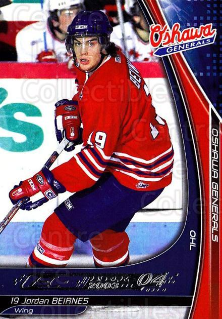 2003-04 Oshawa Generals #1 Jordan Beirnes<br/>4 In Stock - $3.00 each - <a href=https://centericecollectibles.foxycart.com/cart?name=2003-04%20Oshawa%20Generals%20%231%20Jordan%20Beirnes...&quantity_max=4&price=$3.00&code=539361 class=foxycart> Buy it now! </a>