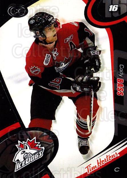 2004-05 Mississauga Ice Dogs #4 Cody Bass<br/>4 In Stock - $3.00 each - <a href=https://centericecollectibles.foxycart.com/cart?name=2004-05%20Mississauga%20Ice%20Dogs%20%234%20Cody%20Bass...&quantity_max=4&price=$3.00&code=539431 class=foxycart> Buy it now! </a>