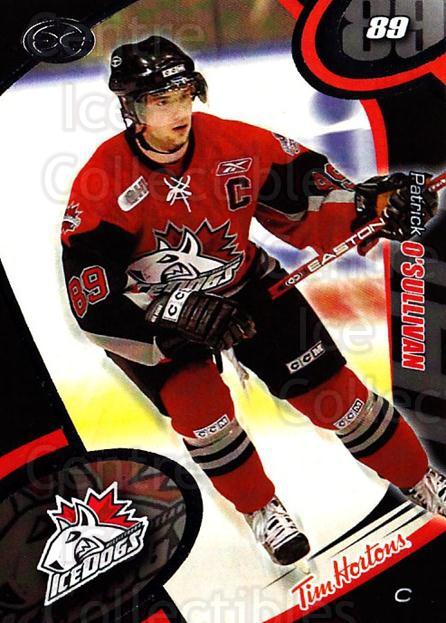 2004-05 Mississauga Ice Dogs #13 Patrick O'Sullivan<br/>4 In Stock - $3.00 each - <a href=https://centericecollectibles.foxycart.com/cart?name=2004-05%20Mississauga%20Ice%20Dogs%20%2313%20Patrick%20O'Sulli...&quantity_max=4&price=$3.00&code=539440 class=foxycart> Buy it now! </a>