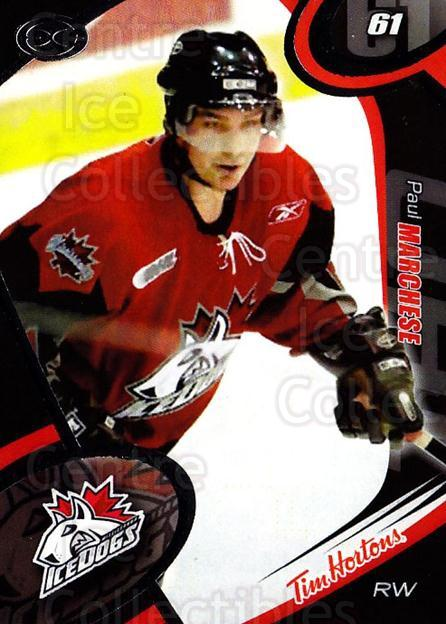 2004-05 Mississauga Ice Dogs #16 Paul Marchese<br/>8 In Stock - $3.00 each - <a href=https://centericecollectibles.foxycart.com/cart?name=2004-05%20Mississauga%20Ice%20Dogs%20%2316%20Paul%20Marchese...&quantity_max=8&price=$3.00&code=539443 class=foxycart> Buy it now! </a>