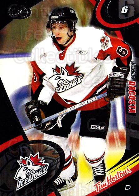2004-05 Mississauga Ice Dogs #20 Justin Dacosta<br/>5 In Stock - $3.00 each - <a href=https://centericecollectibles.foxycart.com/cart?name=2004-05%20Mississauga%20Ice%20Dogs%20%2320%20Justin%20Dacosta...&quantity_max=5&price=$3.00&code=539447 class=foxycart> Buy it now! </a>