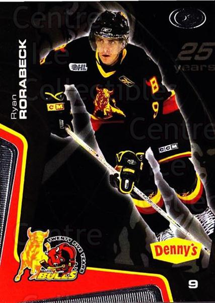 2005-06 Belleville Bulls #2 Ryan Rorabeck<br/>3 In Stock - $3.00 each - <a href=https://centericecollectibles.foxycart.com/cart?name=2005-06%20Belleville%20Bulls%20%232%20Ryan%20Rorabeck...&price=$3.00&code=539500 class=foxycart> Buy it now! </a>