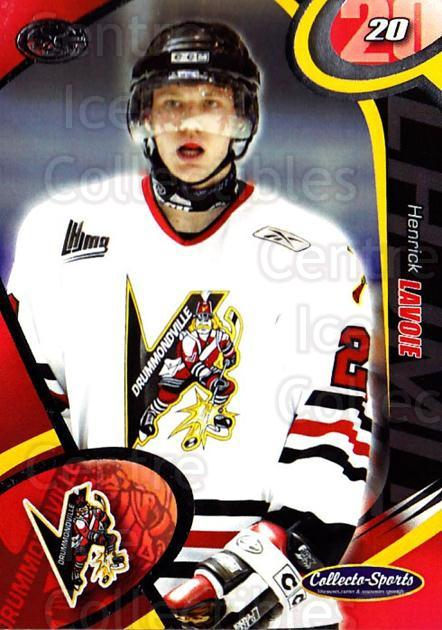 2004-05 Drummondville Voltigeurs #6 Henrick Lavoie<br/>2 In Stock - $3.00 each - <a href=https://centericecollectibles.foxycart.com/cart?name=2004-05%20Drummondville%20Voltigeurs%20%236%20Henrick%20Lavoie...&price=$3.00&code=539579 class=foxycart> Buy it now! </a>