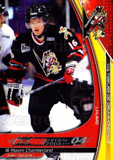 2003-04 Drummondville Voltigeurs #3 Maxime Chamberland<br/>3 In Stock - $3.00 each - <a href=https://centericecollectibles.foxycart.com/cart?name=2003-04%20Drummondville%20Voltigeurs%20%233%20Maxime%20Chamberl...&price=$3.00&code=539782 class=foxycart> Buy it now! </a>