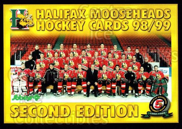 1998-99 Halifax Mooseheads Series Two #27 Team Photo, Checklist<br/>2 In Stock - $2.00 each - <a href=https://centericecollectibles.foxycart.com/cart?name=1998-99%20Halifax%20Mooseheads%20Series%20Two%20%2327%20Team%20Photo,%20Che...&price=$2.00&code=539831 class=foxycart> Buy it now! </a>