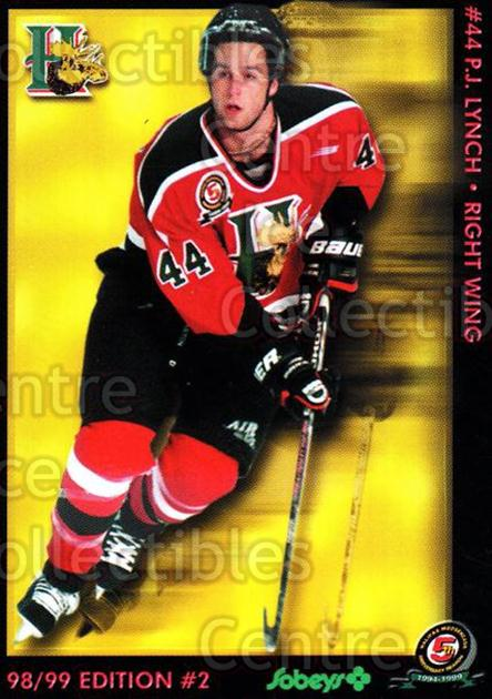1998-99 Halifax Mooseheads Series Two #10 PJ Lynch<br/>7 In Stock - $3.00 each - <a href=https://centericecollectibles.foxycart.com/cart?name=1998-99%20Halifax%20Mooseheads%20Series%20Two%20%2310%20PJ%20Lynch...&quantity_max=7&price=$3.00&code=539835 class=foxycart> Buy it now! </a>