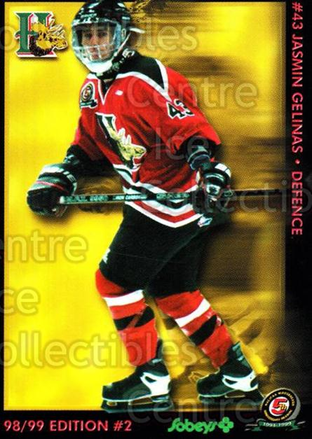 1998-99 Halifax Mooseheads Series Two #6 Jasmin Gelinas<br/>6 In Stock - $3.00 each - <a href=https://centericecollectibles.foxycart.com/cart?name=1998-99%20Halifax%20Mooseheads%20Series%20Two%20%236%20Jasmin%20Gelinas...&quantity_max=6&price=$3.00&code=539836 class=foxycart> Buy it now! </a>