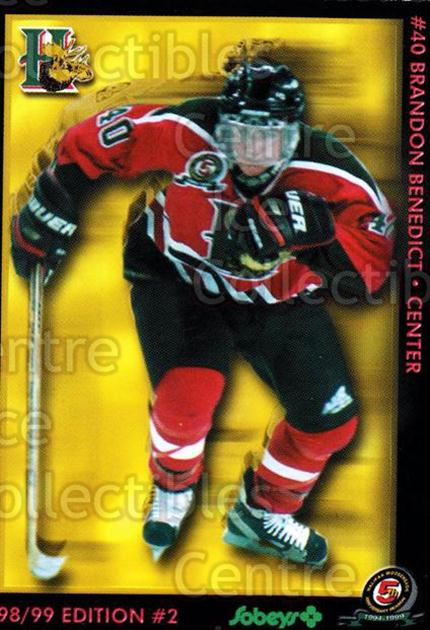 1998-99 Halifax Mooseheads Series Two #2 Brandon Benedict<br/>2 In Stock - $3.00 each - <a href=https://centericecollectibles.foxycart.com/cart?name=1998-99%20Halifax%20Mooseheads%20Series%20Two%20%232%20Brandon%20Benedic...&quantity_max=2&price=$3.00&code=539838 class=foxycart> Buy it now! </a>