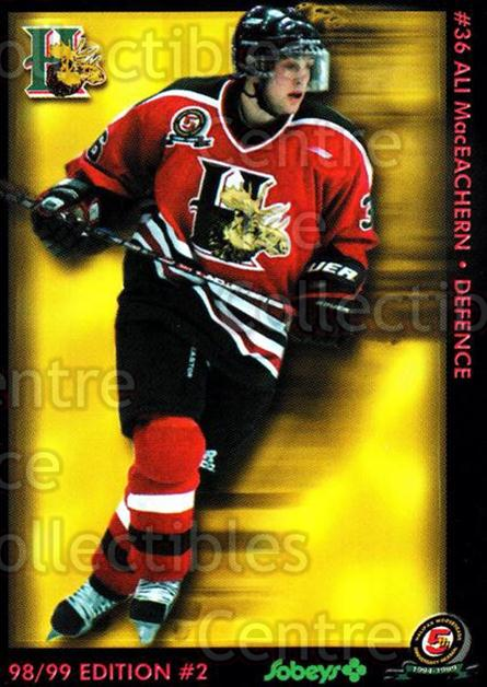 1998-99 Halifax Mooseheads Series Two #11 Ali MacEachern<br/>6 In Stock - $3.00 each - <a href=https://centericecollectibles.foxycart.com/cart?name=1998-99%20Halifax%20Mooseheads%20Series%20Two%20%2311%20Ali%20MacEachern...&quantity_max=6&price=$3.00&code=539839 class=foxycart> Buy it now! </a>