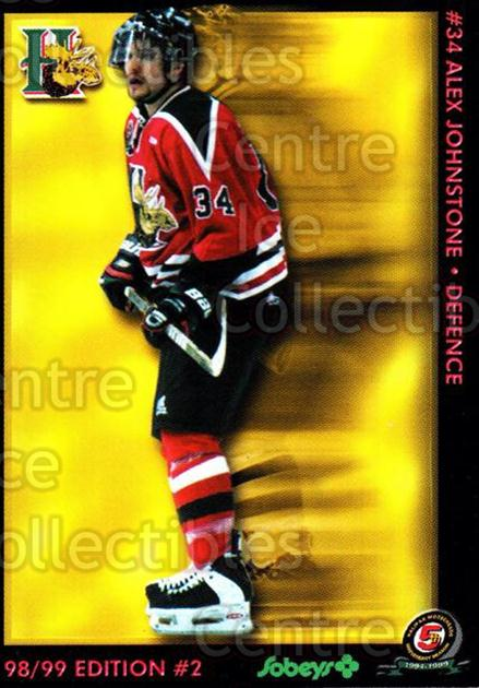 1998-99 Halifax Mooseheads Series Two #7 Alex Johnstone<br/>1 In Stock - $3.00 each - <a href=https://centericecollectibles.foxycart.com/cart?name=1998-99%20Halifax%20Mooseheads%20Series%20Two%20%237%20Alex%20Johnstone...&quantity_max=1&price=$3.00&code=539840 class=foxycart> Buy it now! </a>