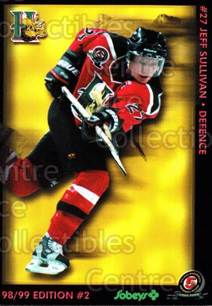 1998-99 Halifax Mooseheads Series Two #20 Jeffrey Sullivan<br/>4 In Stock - $3.00 each - <a href=https://centericecollectibles.foxycart.com/cart?name=1998-99%20Halifax%20Mooseheads%20Series%20Two%20%2320%20Jeffrey%20Sulliva...&quantity_max=4&price=$3.00&code=539843 class=foxycart> Buy it now! </a>