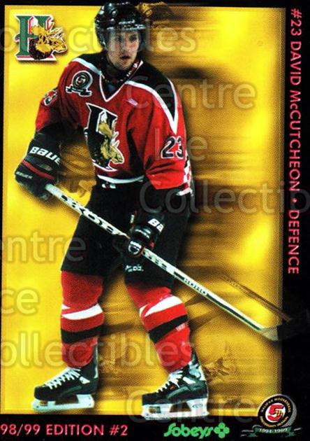 1998-99 Halifax Mooseheads Series Two #14 David McCutcheon<br/>5 In Stock - $3.00 each - <a href=https://centericecollectibles.foxycart.com/cart?name=1998-99%20Halifax%20Mooseheads%20Series%20Two%20%2314%20David%20McCutcheo...&quantity_max=5&price=$3.00&code=539844 class=foxycart> Buy it now! </a>