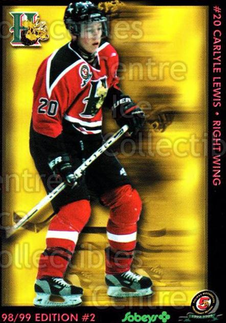 1998-99 Halifax Mooseheads Series Two #9 Carlyle Lewis<br/>2 In Stock - $3.00 each - <a href=https://centericecollectibles.foxycart.com/cart?name=1998-99%20Halifax%20Mooseheads%20Series%20Two%20%239%20Carlyle%20Lewis...&quantity_max=2&price=$3.00&code=539846 class=foxycart> Buy it now! </a>