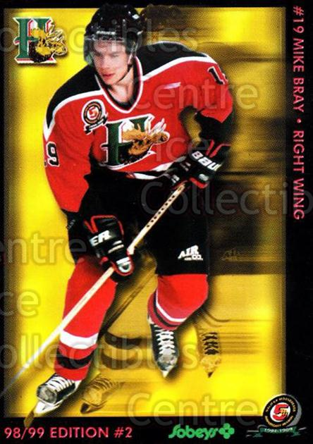 1998-99 Halifax Mooseheads Series Two #4 Mike Bray<br/>6 In Stock - $3.00 each - <a href=https://centericecollectibles.foxycart.com/cart?name=1998-99%20Halifax%20Mooseheads%20Series%20Two%20%234%20Mike%20Bray...&quantity_max=6&price=$3.00&code=539847 class=foxycart> Buy it now! </a>