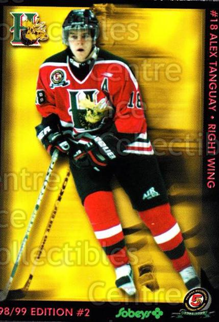 1998-99 Halifax Mooseheads Series Two #21 Alex Tanguay<br/>2 In Stock - $5.00 each - <a href=https://centericecollectibles.foxycart.com/cart?name=1998-99%20Halifax%20Mooseheads%20Series%20Two%20%2321%20Alex%20Tanguay...&quantity_max=2&price=$5.00&code=539848 class=foxycart> Buy it now! </a>