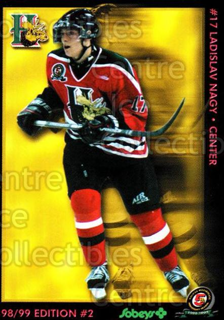 1998-99 Halifax Mooseheads Series Two #15 Ladislav Nagy<br/>1 In Stock - $3.00 each - <a href=https://centericecollectibles.foxycart.com/cart?name=1998-99%20Halifax%20Mooseheads%20Series%20Two%20%2315%20Ladislav%20Nagy...&quantity_max=1&price=$3.00&code=539849 class=foxycart> Buy it now! </a>