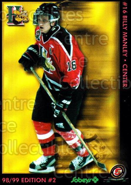 1998-99 Halifax Mooseheads Series Two #12 Billy Manley<br/>7 In Stock - $3.00 each - <a href=https://centericecollectibles.foxycart.com/cart?name=1998-99%20Halifax%20Mooseheads%20Series%20Two%20%2312%20Billy%20Manley...&quantity_max=7&price=$3.00&code=539850 class=foxycart> Buy it now! </a>