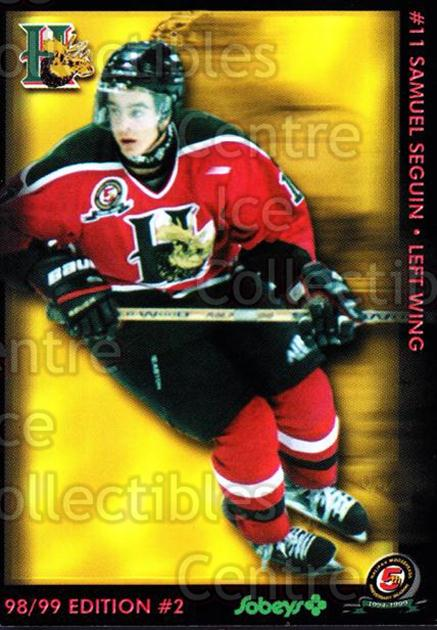 1998-99 Halifax Mooseheads Series Two #19 Samuel Seguin<br/>6 In Stock - $3.00 each - <a href=https://centericecollectibles.foxycart.com/cart?name=1998-99%20Halifax%20Mooseheads%20Series%20Two%20%2319%20Samuel%20Seguin...&quantity_max=6&price=$3.00&code=539851 class=foxycart> Buy it now! </a>