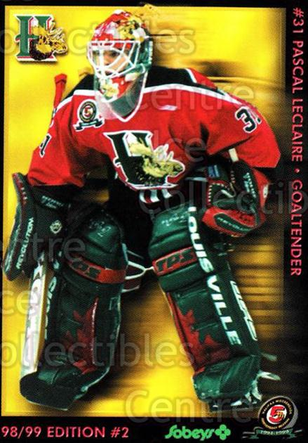 1998-99 Halifax Mooseheads Series Two #8 Pascal Leclaire<br/>3 In Stock - $3.00 each - <a href=https://centericecollectibles.foxycart.com/cart?name=1998-99%20Halifax%20Mooseheads%20Series%20Two%20%238%20Pascal%20Leclaire...&quantity_max=3&price=$3.00&code=539853 class=foxycart> Buy it now! </a>